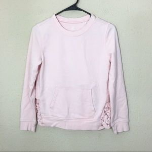 AG Adriano Goldschmied Pink Pullover Lace Hem L